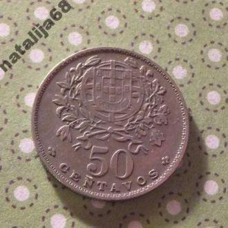 Португалия 1963 год монета 50 сентаво !