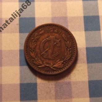 Мексика 1941 год монета 1 сентаво !