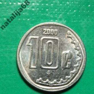 Мексика 2000 год монета 10 сентаво !