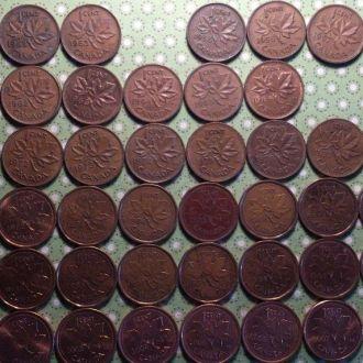 Канада 1 цент погодовка набор 61 монета 1950 -2012