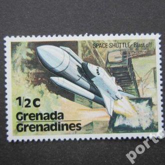 марка Гренада Гренадины космос шатл MNH