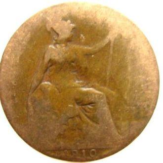 Великобритания 1/2 пенни 1910г.