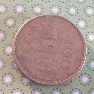 Мексика 1988 год монета 100 песо !