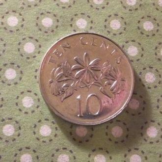 Сингапур 2005 год монета 10 центов !