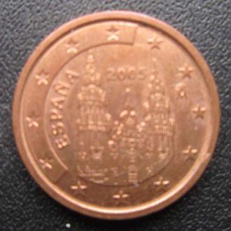 2 евроцента Испания 2005