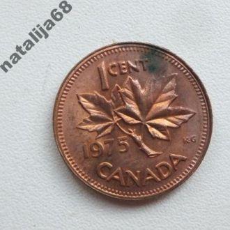 Канада 1975 год монета 1 цент !