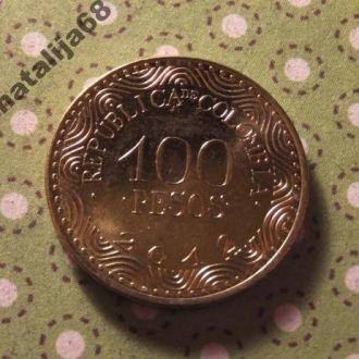Колумбия 2012 год монета 100 песо !