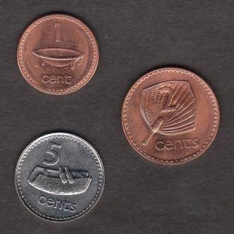Набор центов Фиджи 1992 г. UNC