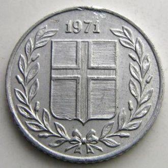 Исландия 10 аурар 1971 год