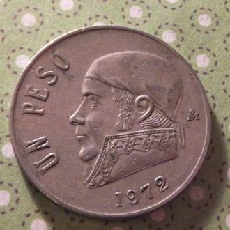 Мексика 1972 год монета 1 песо !