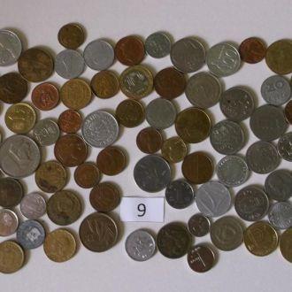 Набор монет мира 87 штук разные за СУПЕРЦЕНУ