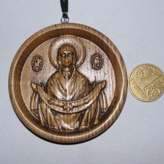 Автооберег медальoн, икона Покров Богородицы