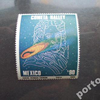 марка Мексика 1986 комета Галея MNH