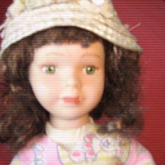 кукла фарфоровая винтаж клейменая