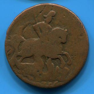 2 копейки 1758 (перечекан из 1756)