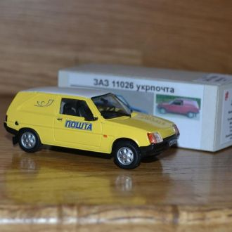 Модель ЗАЗ 11026 укрпочта,1:43, Vector-Models