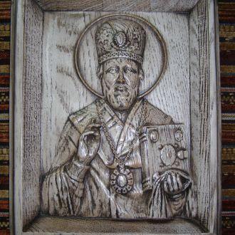 """Деревянная икона - """"Святой Николай"""""""