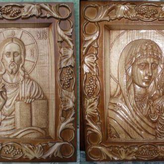 Иконы - Венчальная Пара (Богоматерь и Спаситель)