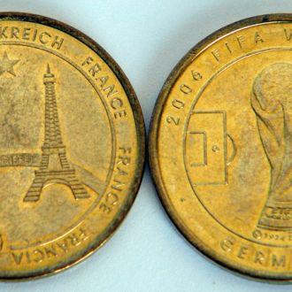 ЧМ по футболу 2006 памятная медаль к-да Франции