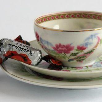 Чашка блюдце тарелка Гейша Лотос 3 IBUKI литофания