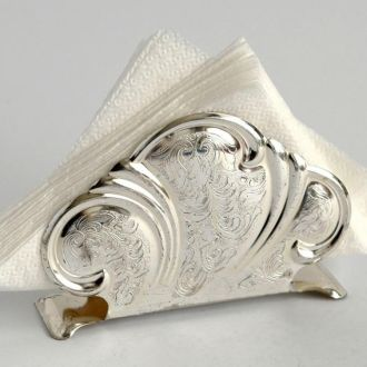 Салфетница, подставка для салфеток №2 посеребрение