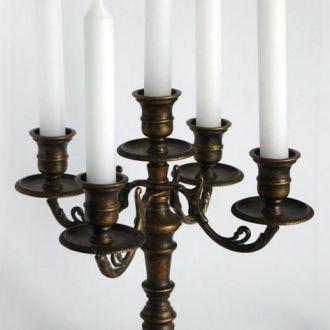 Канделябр бронзовый на 5  свечей, Италия