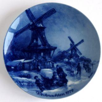 Тарелка панно Рождество 1979 Berlin  W. Germany
