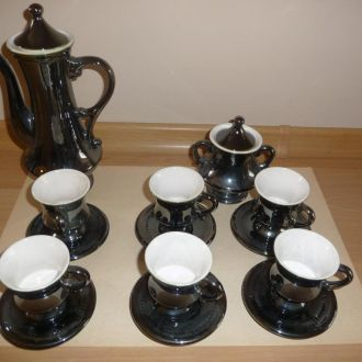 Сервиз кофейный черный на 6 персон (НОВЫЙ из СССР)