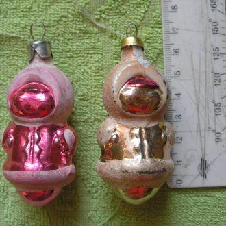 Елочная игрушка СССР Девочки якутки (чукчи) 2 шт