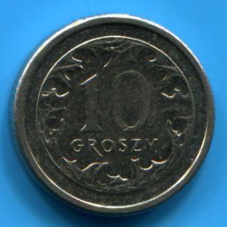 Польша 10 грошей 2008