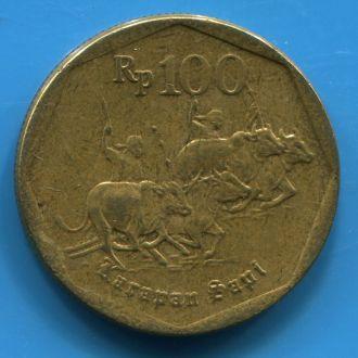 Индонезия 100 рупий 1997