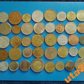 Монеты Мира без повторов 50 штук № 8