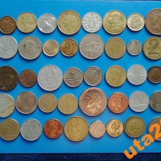 Монеты Мира без повторов 50 штук № 5