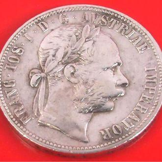 ОДИН ФЛОРИН 1890 г. СЕРЕБРО АВСТРО-ВЕНГРИЯ 12,10гр