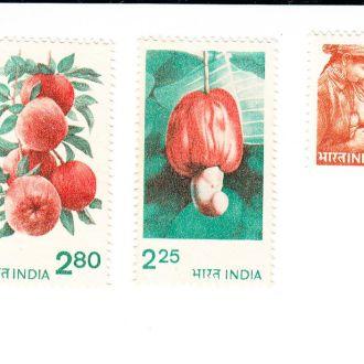 1981 Индия Mi № 862А - 864А  Стандарт. Флора**