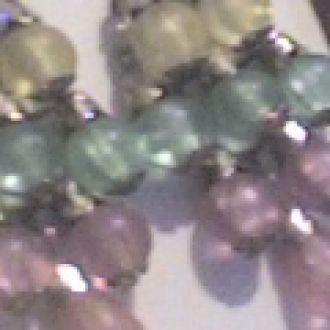 серьги  крупная гроздь