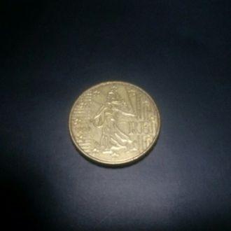 10 евро центов Франция 2000, 2002, 1999 год