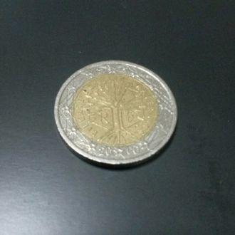2 евро Франция 2000 год
