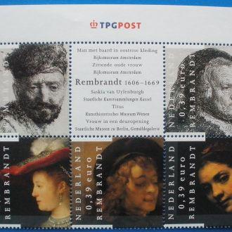 Нидерланды. 2006 г. 400 летие Рембрандта**