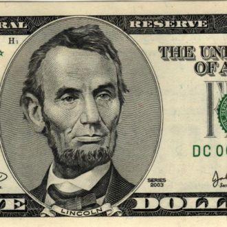 5 долларов замещения* США 2003г. в UNC из пачки