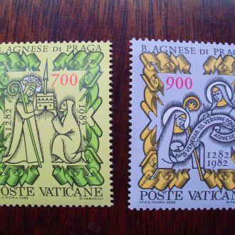 Ватикан.1982г. Религия XIII.века Полная серия. MNH