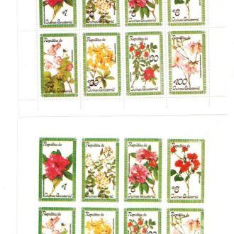 Экв. Гвинея 1979 флора цветы зуб и б/з  MNH