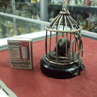 кролик в клетке на подставке серебро 381 г