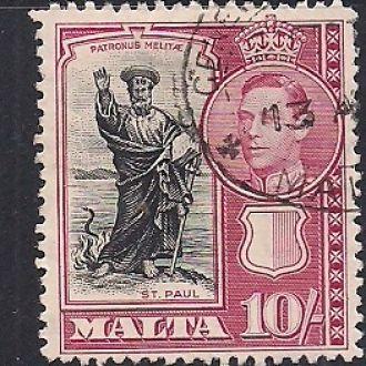 БРИТ. КОЛОНИИ МАЛЬТА 1938 25 ЕВРО
