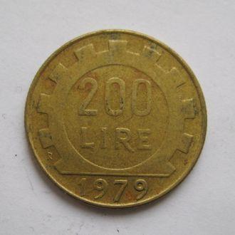 200 лир = 1979 г. = ИТАЛИЯ