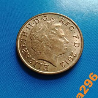 Великобритания 1 пенни 2012 год  Елизавета II
