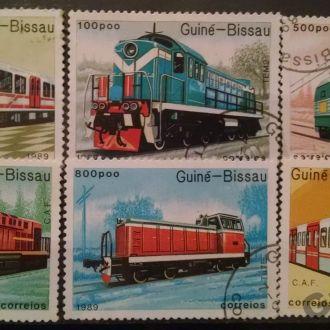 марки Гвине- Бисау техника локомотивы серия