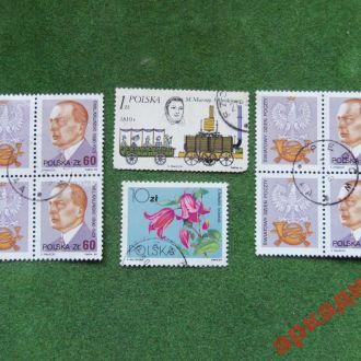 марки-Польша 6 марок  1973г