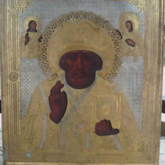 икона Николай Чудотворец, зимний