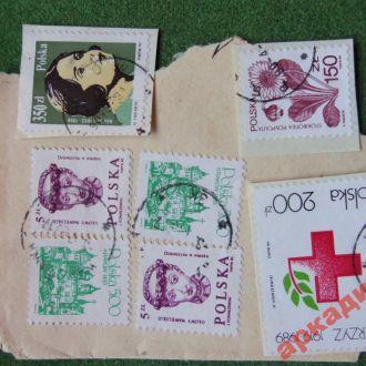 марки-Польша 7 марок  1989г